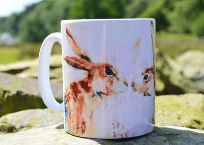 Kissing Hares Ceramic Mug